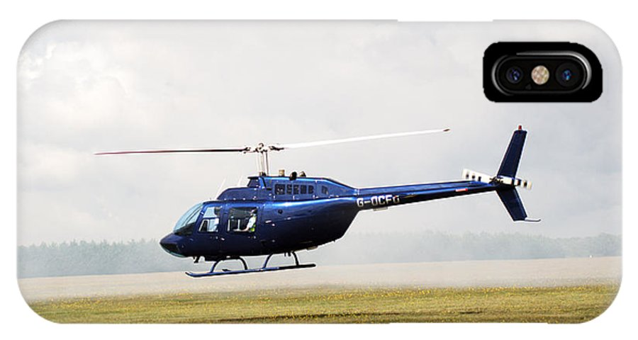 Textron Bell IPhone X Case featuring the photograph 1980 Bell Helicopter Textron Bell 206b by Chris Day