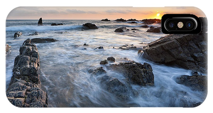 Beach IPhone X Case featuring the photograph Sunset by Sebastian Wasek