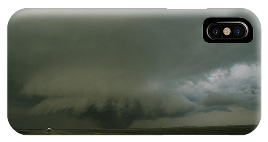 North America IPhone X / XS Case featuring the photograph A Massive F4 Category Tornado Rampages by Carsten Peter