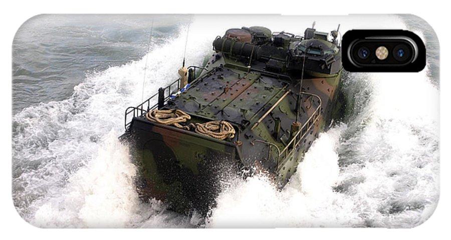 Aav IPhone X Case featuring the photograph An Amphibious Assault Vehicle by Stocktrek Images
