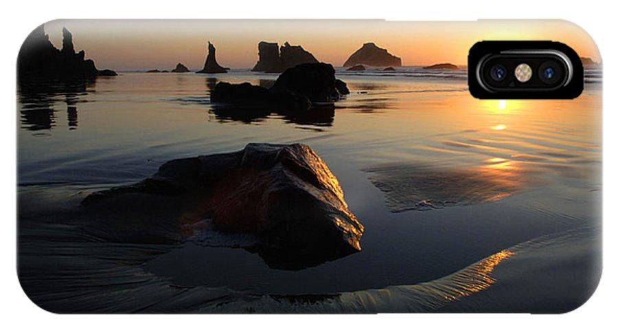 Bandon Beach IPhone X Case featuring the photograph Bandon Beach Sunset by Bob Christopher