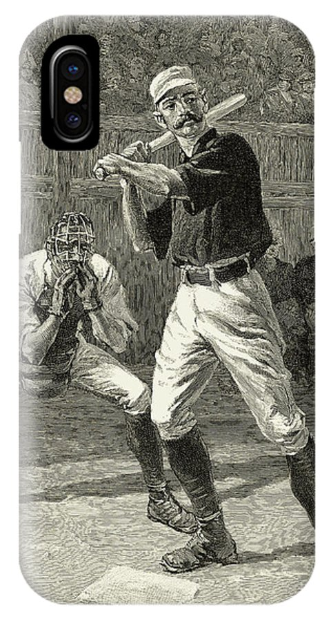 1888 IPhone X Case featuring the photograph Baseball, 1888 by Granger