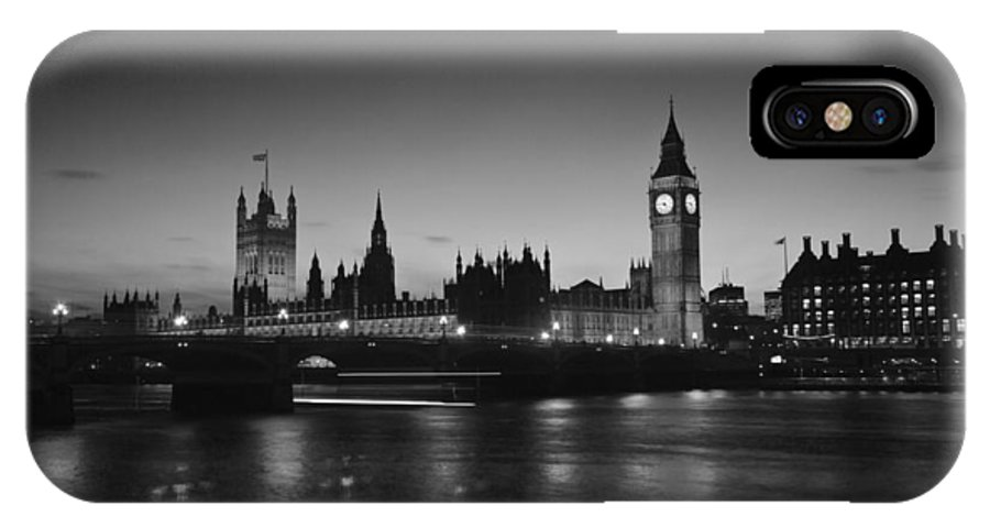 Westminster IPhone X Case featuring the photograph Big Ben And The Houses Of Parliament by David French
