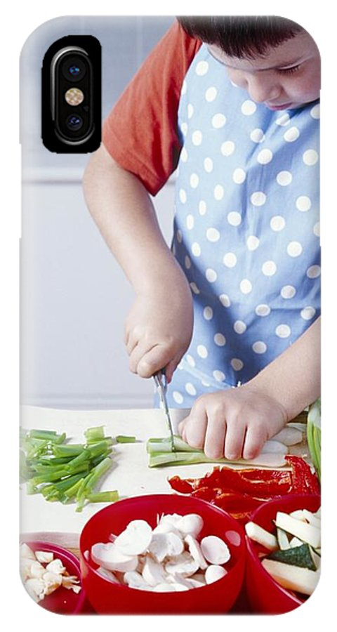 Equipment IPhone X / XS Case featuring the photograph Cooking A Stir Fry by Veronique Leplat