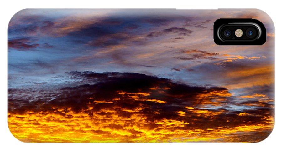 Sunrise IPhone X Case featuring the photograph December Sunrise by Thomas R Fletcher