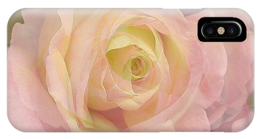 Rose IPhone X Case featuring the photograph Delicate Journey by Shirley Sirois