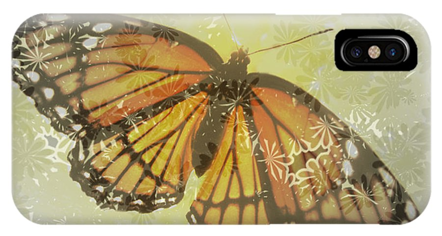 Butterfly Design Collection IPhone X Case featuring the photograph Designer Butterfly Collection by Debra   Vatalaro