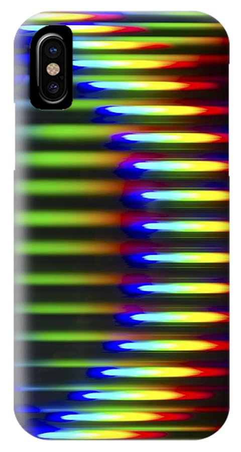 Abstract IPhone X / XS Case featuring the photograph Diffracted Light Pattern by Pasieka