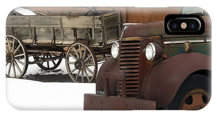 Truck IPhone X Case featuring the photograph Even Older by Terry Fiala