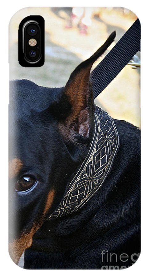 Dog IPhone X Case featuring the photograph Eye On You by Susan Herber