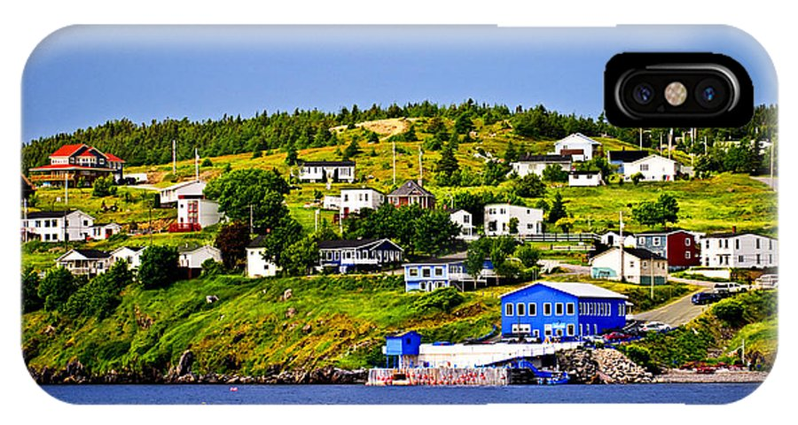 Fishing IPhone X Case featuring the photograph Fishing Village In Newfoundland by Elena Elisseeva