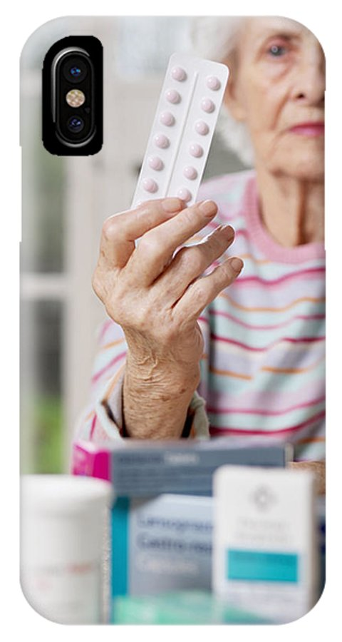 Blister Pack IPhone X Case featuring the photograph Geriatric Care by Tek Image