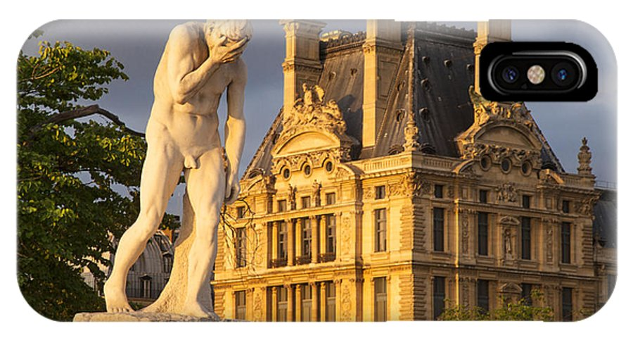 Architecture IPhone X Case featuring the photograph Jardin Des Tuileries by Brian Jannsen