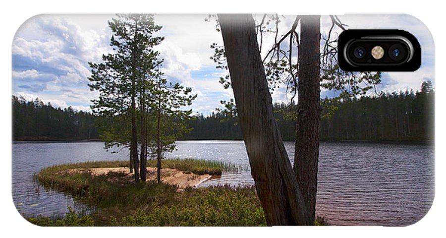 2012 IPhone X Case featuring the photograph Lake Huosius At Hossa by Jouko Lehto