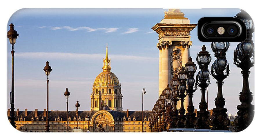 Pont IPhone X Case featuring the photograph Les Invalides by Brian Jannsen