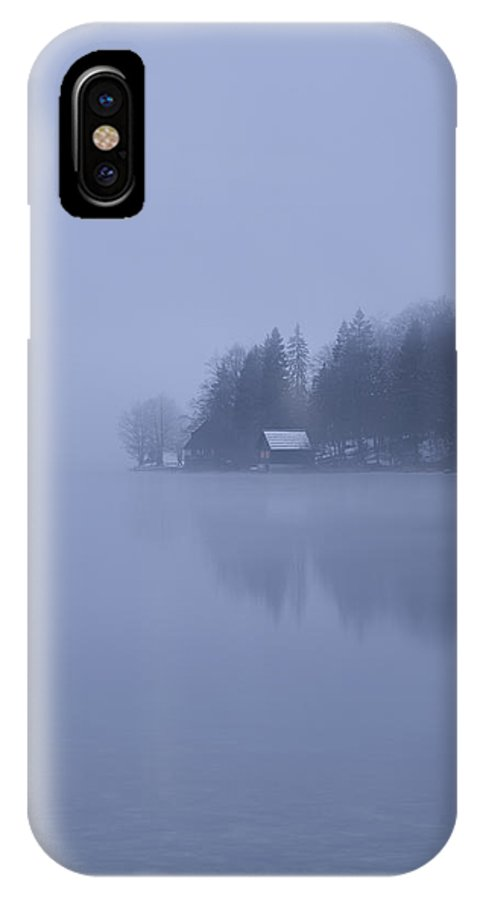 Bohinj IPhone X Case featuring the photograph Misty Dawn by Ian Middleton