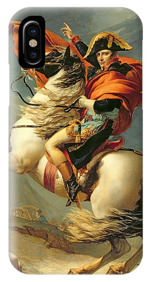 Equestrian; Portrait; Male; Man IPhone X Case featuring the painting Napoleon Crossing The Alps On 20th May 1800 by Jacques Louis David
