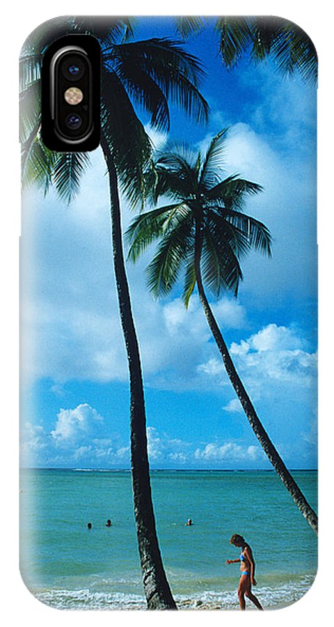 Palm Trees IPhone X Case featuring the photograph Pigeon Point On Tobago by Carl Purcell