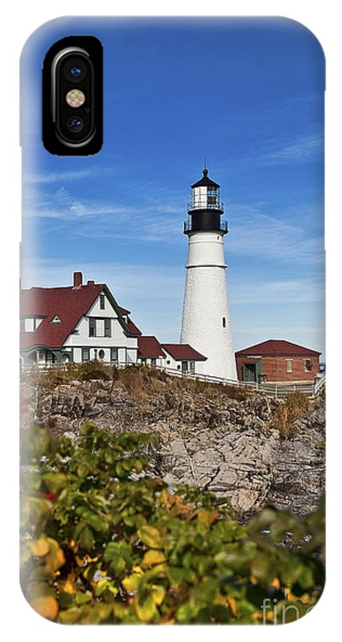 Maine IPhone X Case featuring the photograph Portland Head Lighthouse by John Greim
