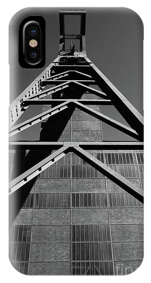 Bauwerke IPhone X Case featuring the photograph Shaft Tower by Joerg Lingnau