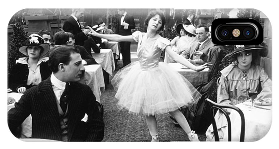 -dancing- IPhone X Case featuring the photograph Silent Film Still: Dancing by Granger