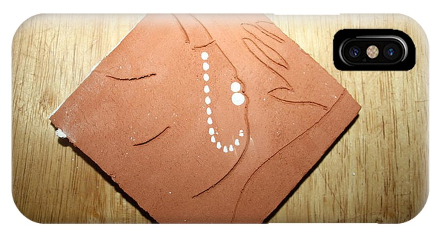 Jesus IPhone X Case featuring the ceramic art Sleep - Tile by Gloria Ssali