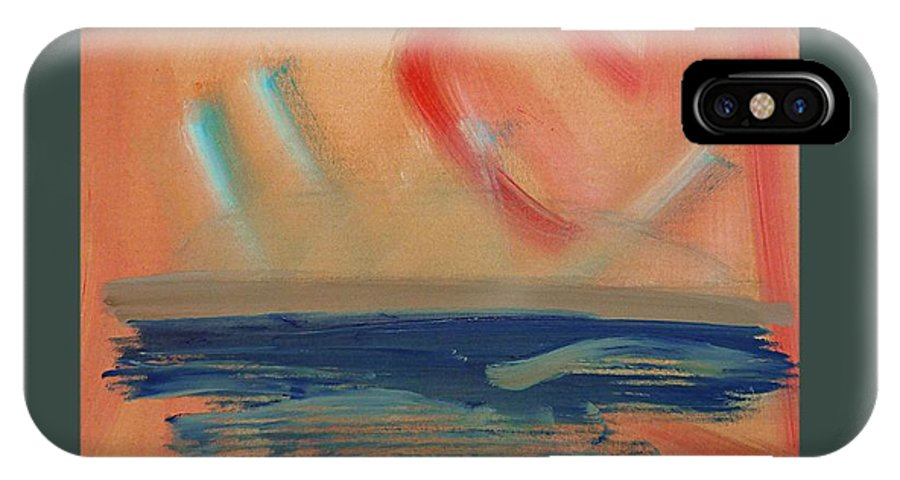 Tsunami IPhone X / XS Case featuring the painting Tsunami by Charles Stuart