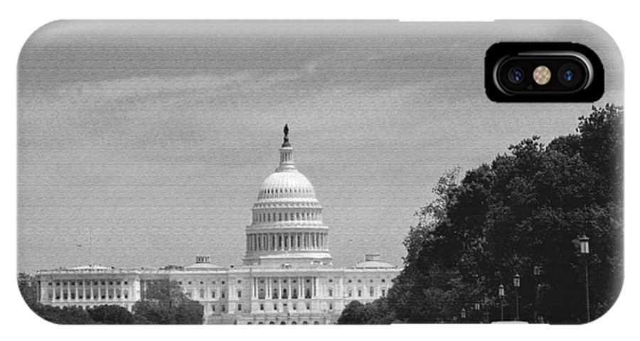 Us Capitol IPhone X Case featuring the photograph Us Capitol by Pravine Chester