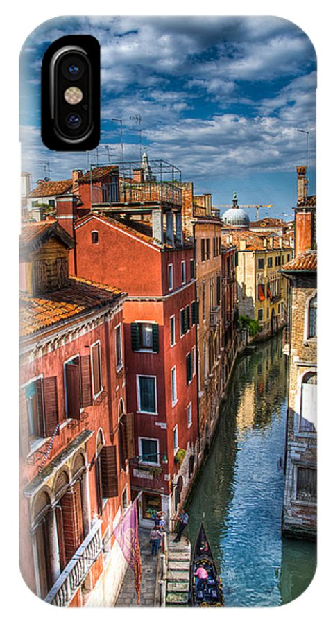 Venice IPhone X Case featuring the photograph Venice Canal by Jon Berghoff