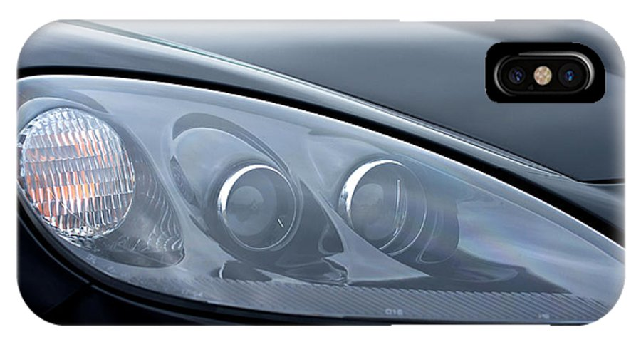 2002 Chevrolet Corvette IPhone X Case featuring the photograph 2002 Chevrolet Corvette Head Light by Glenn Gordon