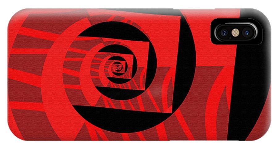 IPhone X Case featuring the digital art Decoupage by Mihaela Stancu