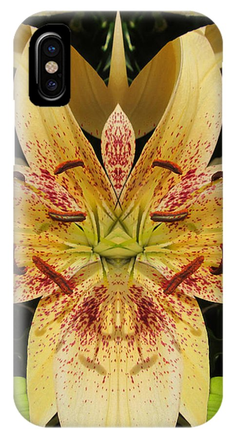 Color Blend IPhone X Case featuring the photograph Lily Fantasy by Michele Caporaso