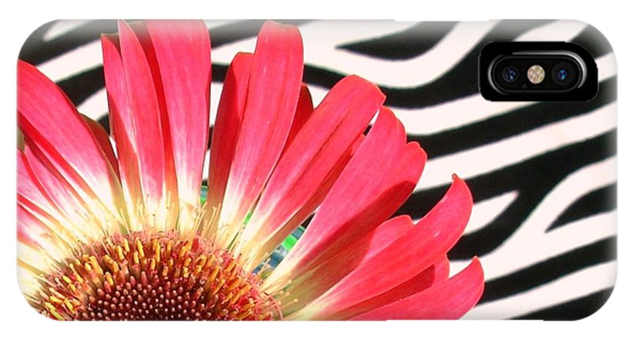 Gerbera Photographs IPhone X Case featuring the photograph 2552c1-007 by Kimberlie Gerner