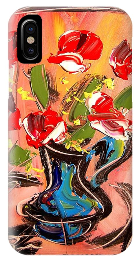 Roses IPhone X Case featuring the mixed media Roses by Mark Kazav