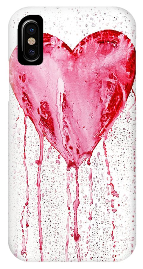 Love IPhone X Case featuring the painting Bleeding Heart by Michal Boubin