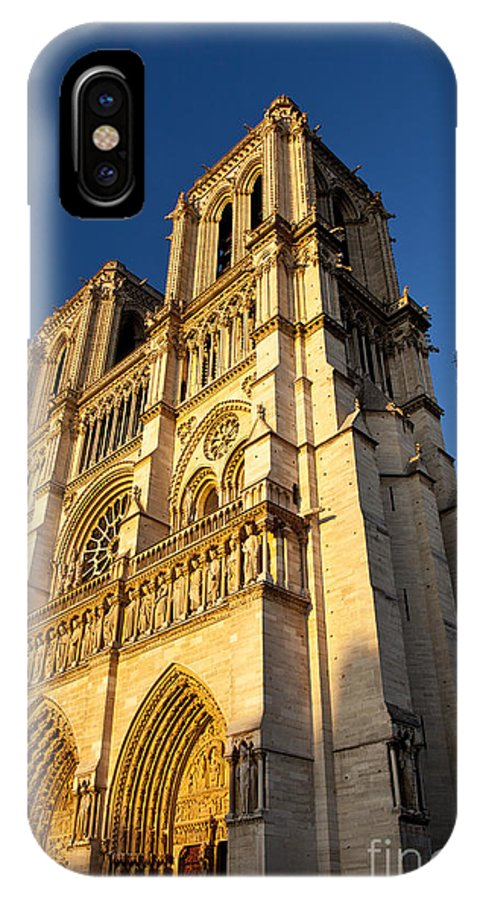 Cathedral IPhone X Case featuring the photograph Cathedral Notre Dame by Brian Jannsen