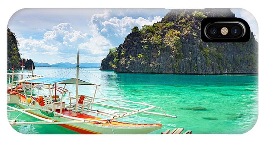 Lagoon IPhone X Case featuring the photograph Coron Lagoon by MotHaiBaPhoto Prints