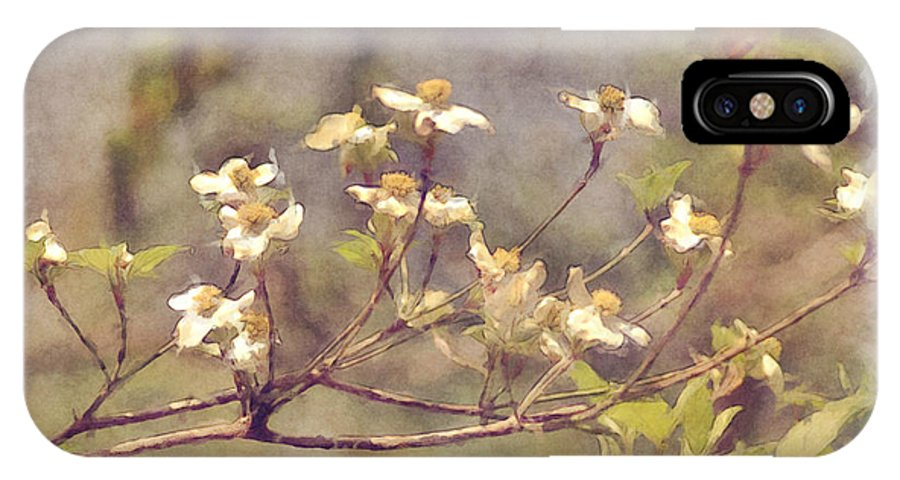 Flowers IPhone X / XS Case featuring the photograph Dogwood by Donna Bentley