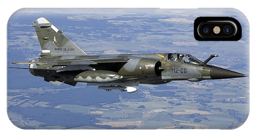 Evreux IPhone X Case featuring the photograph Mirage F1cr Of The French Air Force by Gert Kromhout