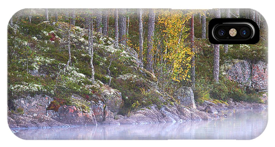 Haukkajarvi IPhone X Case featuring the photograph Morning Mist At Haukkajarvi by Jouko Lehto
