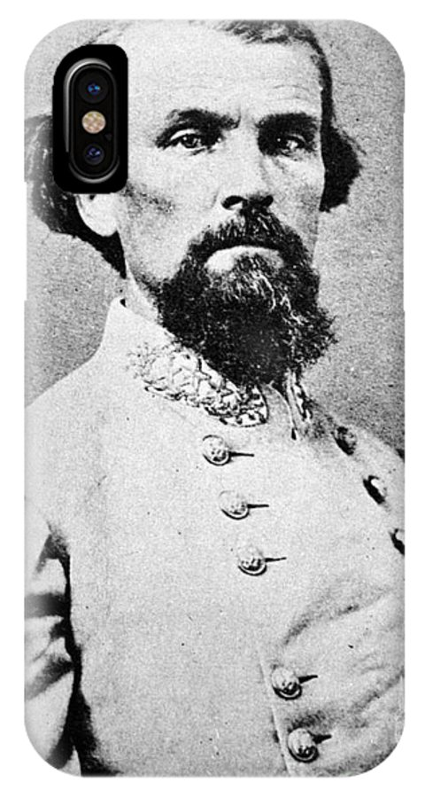 1864 IPhone X Case featuring the photograph Nathan Bedford Forrest by Granger