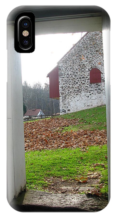 Farm IPhone X Case featuring the photograph Old Farm by Paul Slebodnick