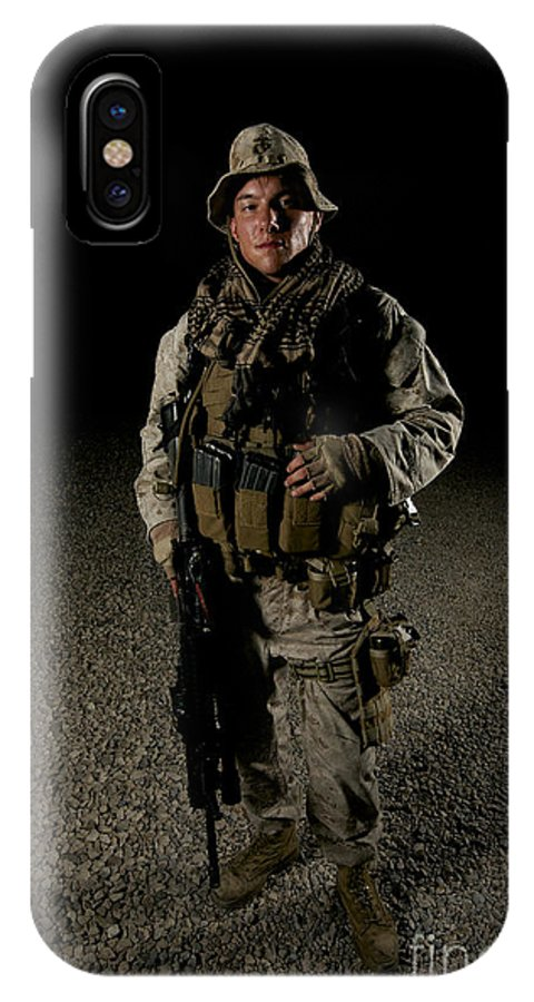 Operation Enduring Freedom IPhone X Case featuring the photograph Portrait Of A U.s. Marine by Terry Moore