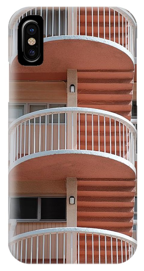 Architecture IPhone X / XS Case featuring the photograph 3 Rails by Rob Hans