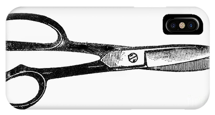 1900 IPhone X Case featuring the photograph Scissors by Granger