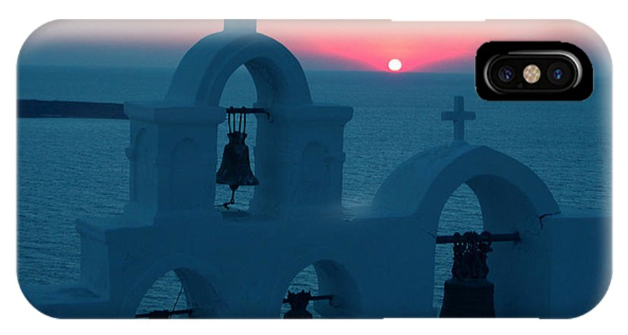 Colette IPhone X Case featuring the photograph Sunset Santorini Greece by Colette V Hera Guggenheim