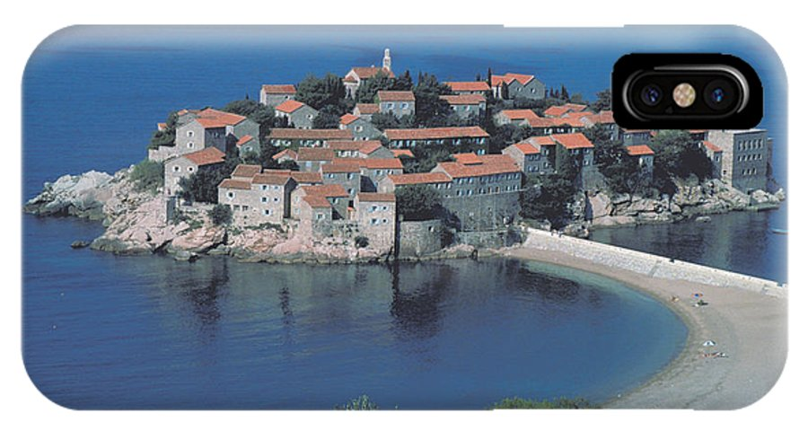 Fishing Village IPhone X Case featuring the photograph Sveti Stefan by Carl Purcell