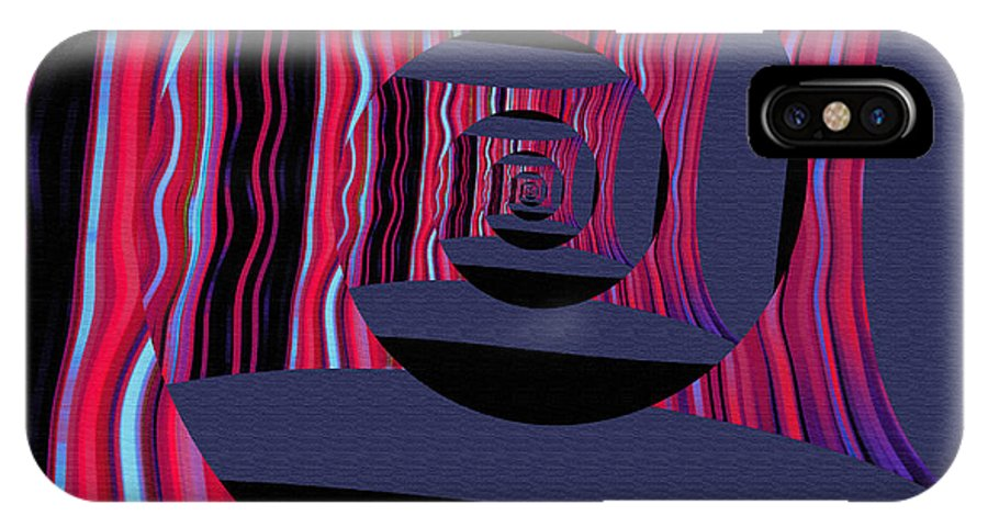 IPhone X Case featuring the digital art Twirling by Mihaela Stancu