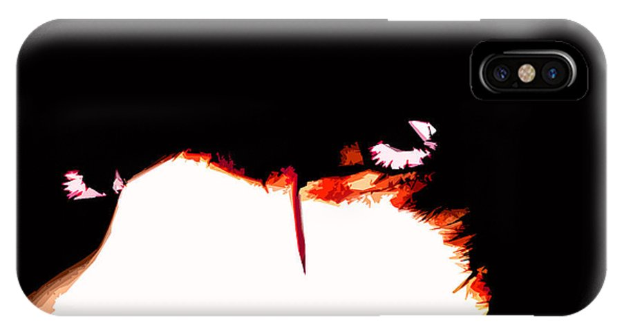 Goth IPhone X Case featuring the digital art Untitled by Russell Clenney