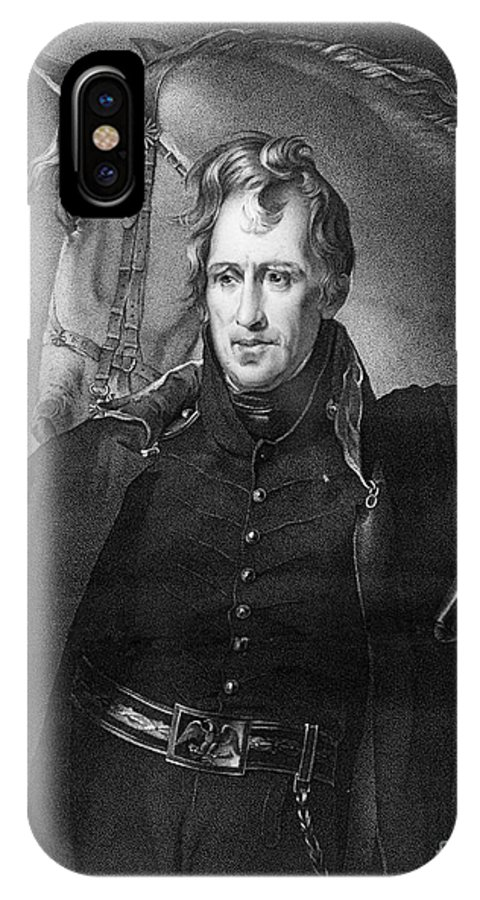 1820 IPhone X Case featuring the photograph Andrew Jackson (1767-1845) by Granger